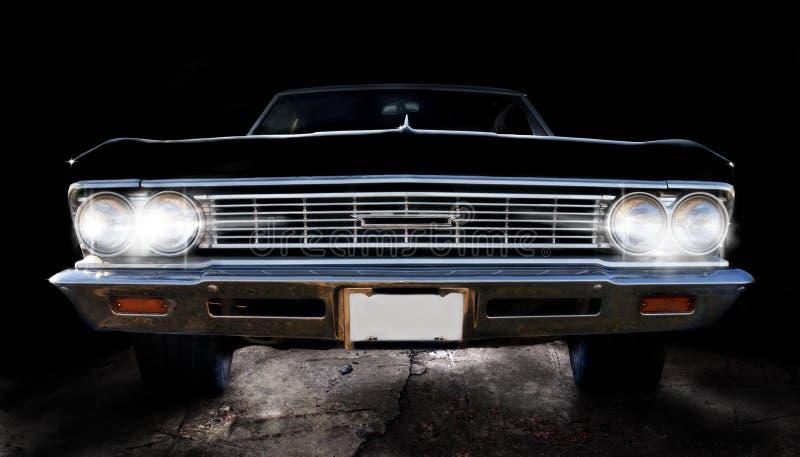 Svart bil för klassiker royaltyfria foton