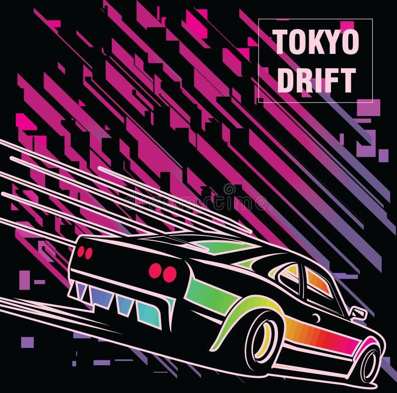 svart bilsport stock illustrationer