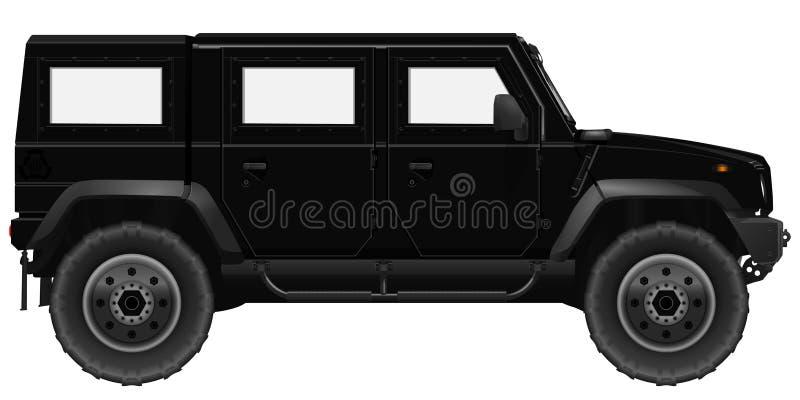 svart bilsuv royaltyfri illustrationer