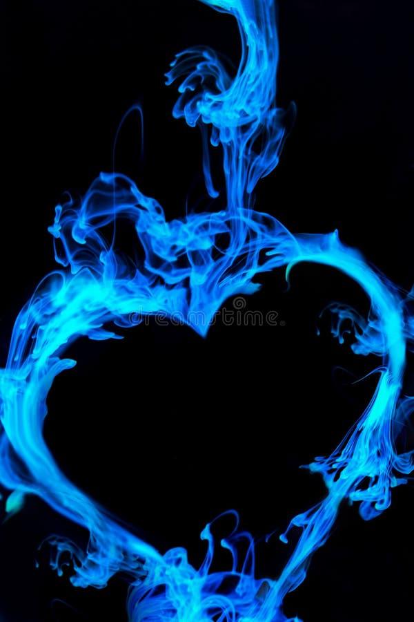 svart blå hjärta royaltyfri bild