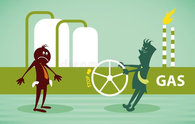 svart blått rør för krisbränslegas stock illustrationer