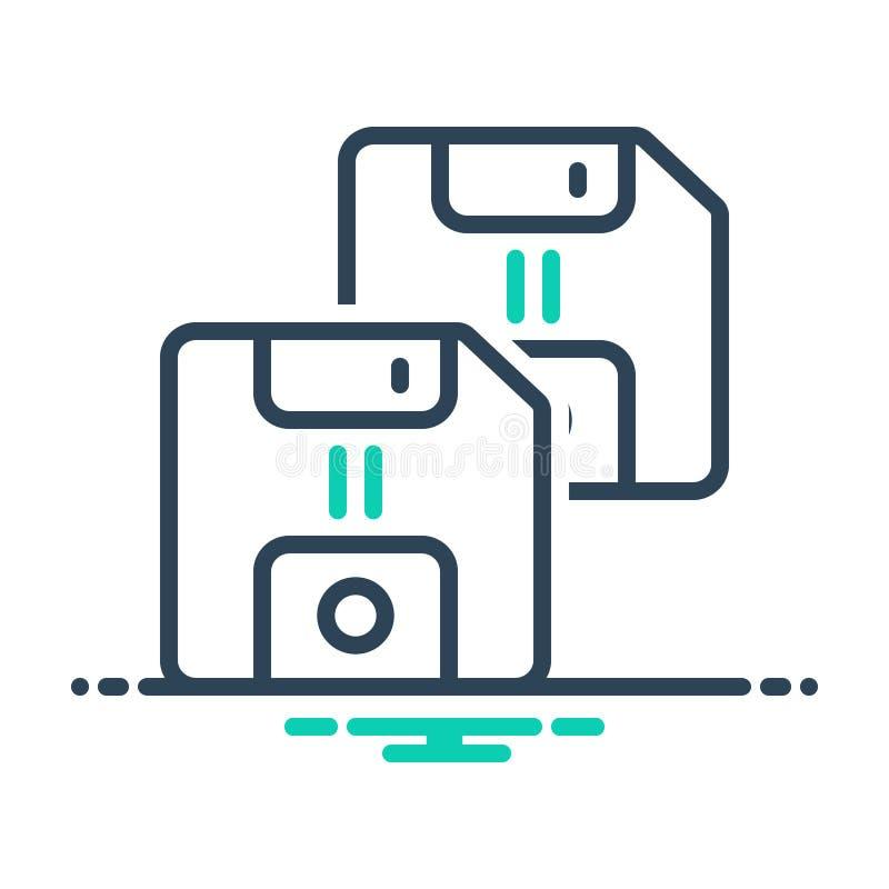 Svart blandningsikon för diskett, diskett och diskett vektor illustrationer