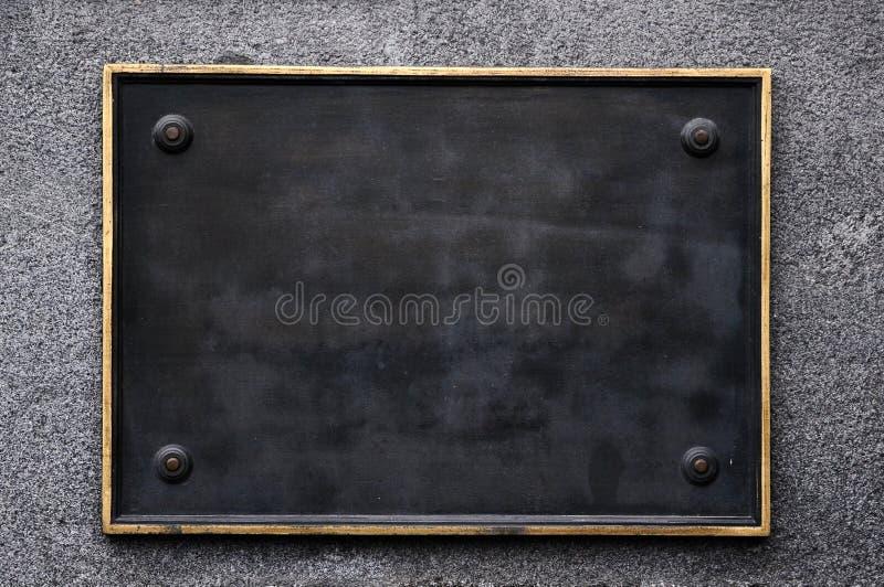 svart blankt tecken royaltyfri fotografi