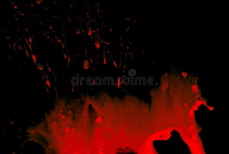 svart blod arkivbild