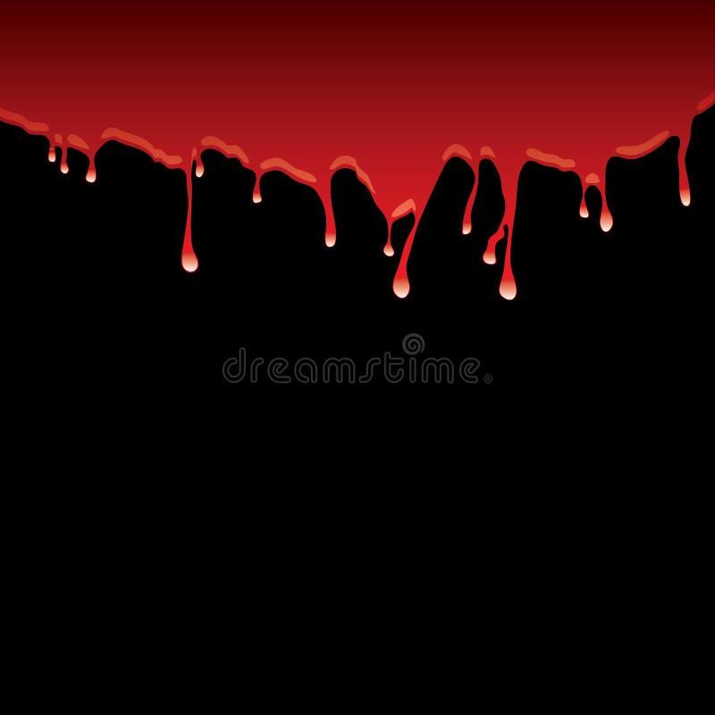 svart bloddribbling royaltyfri illustrationer