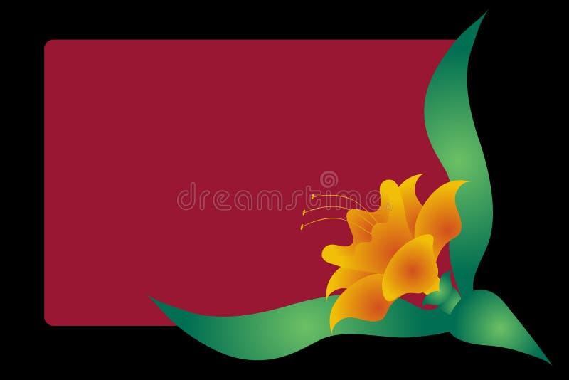 svart blom- för bakgrund stock illustrationer