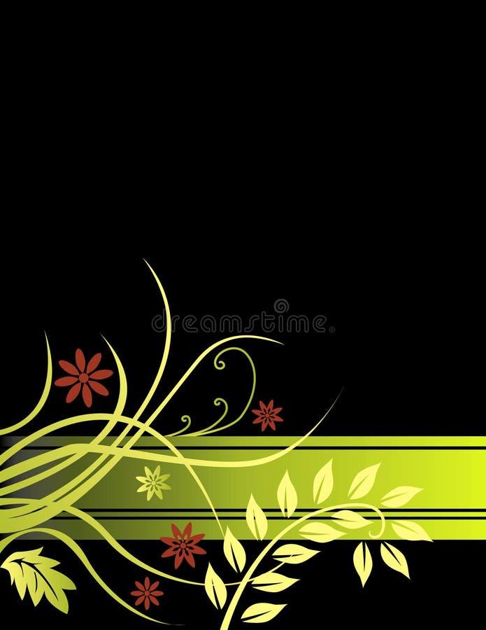 svart blom- för bakgrund royaltyfri illustrationer