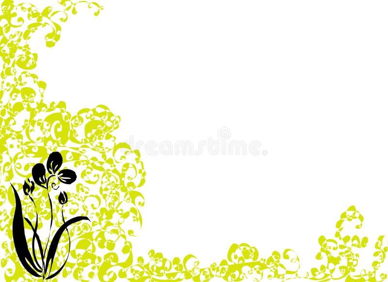Download Svart blomma stock illustrationer. Illustration av anmärkning - 519930