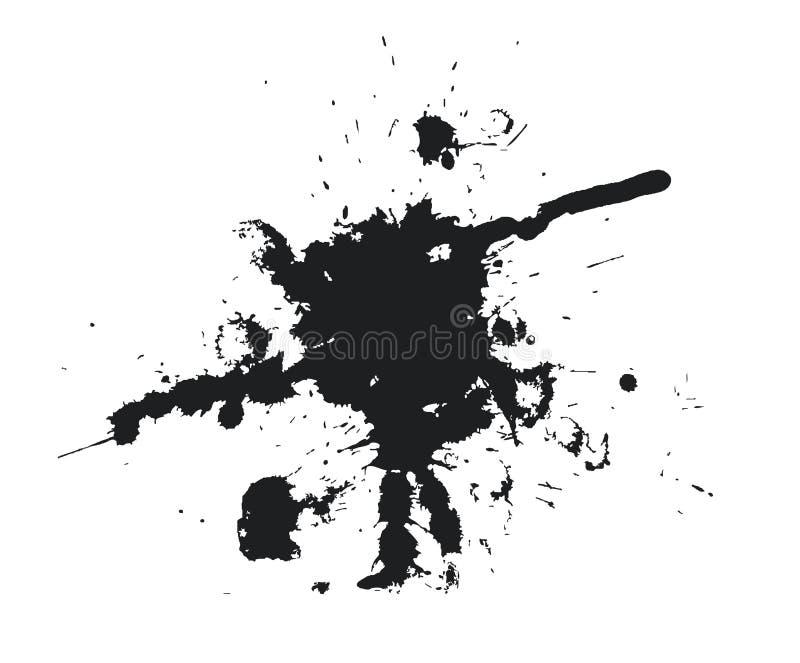 svart blot stock illustrationer