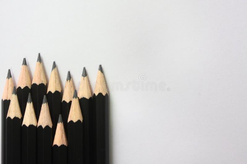 svart blyertspenna arkivfoto