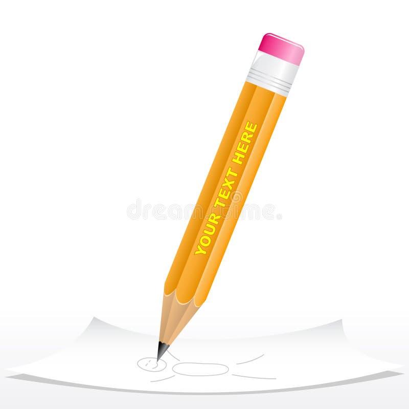 svart blyertspenna 3d vektor illustrationer