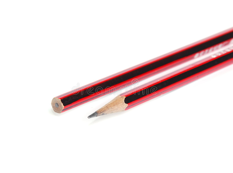 svart blyertspennared arkivbild