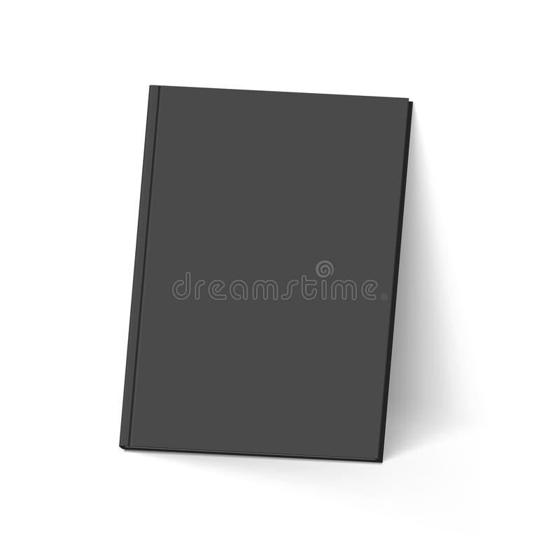 svart bok stock illustrationer