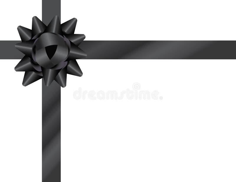 svart bow stock illustrationer
