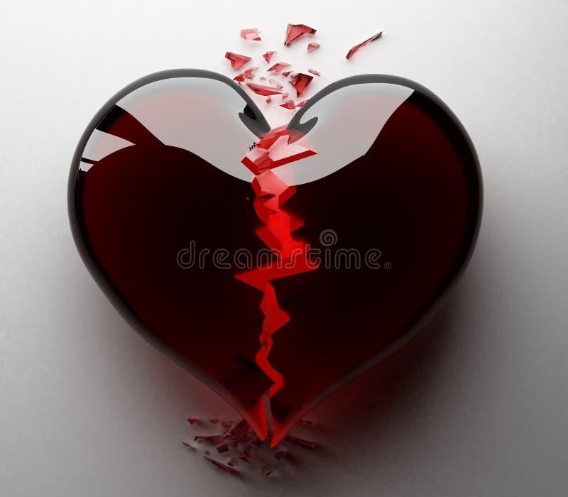 svart bruten hjärta vektor illustrationer