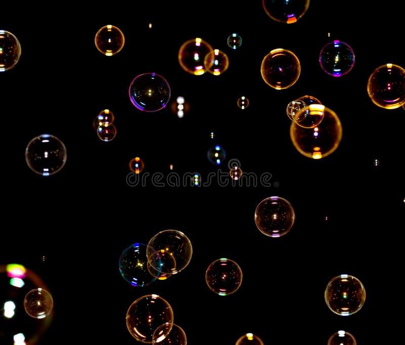 svart bubblatvål royaltyfri fotografi
