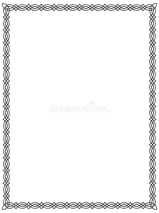 svart celtic för kant 9 royaltyfri illustrationer