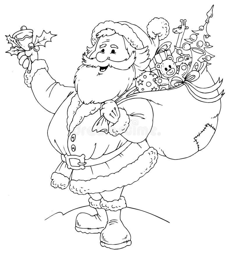 svart claus santa white stock illustrationer