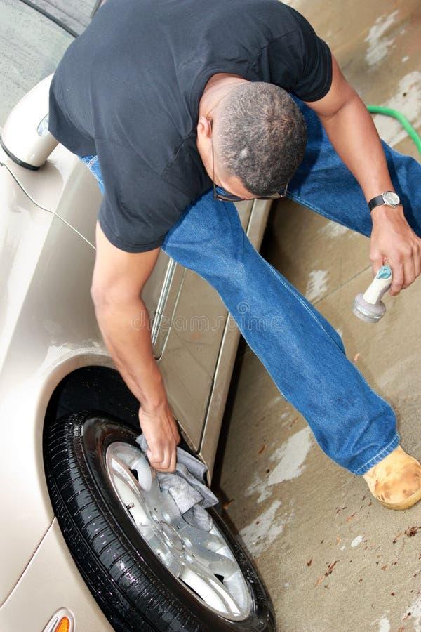svart cleaningman för bil 2 royaltyfria bilder