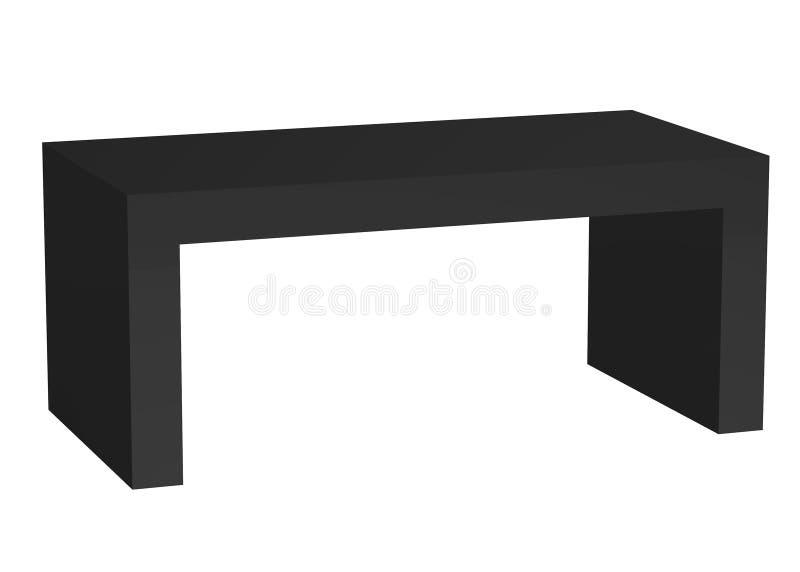 svart coffetabell vektor illustrationer
