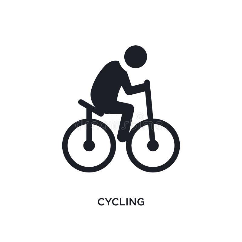 svart cykla isolerad vektorsymbol enkel beståndsdelillustration från symboler för sportbegreppsvektor cykla redigerbart logosymbo royaltyfri illustrationer