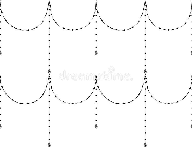 Svart dekorativ sömlös modell för vektor royaltyfri illustrationer