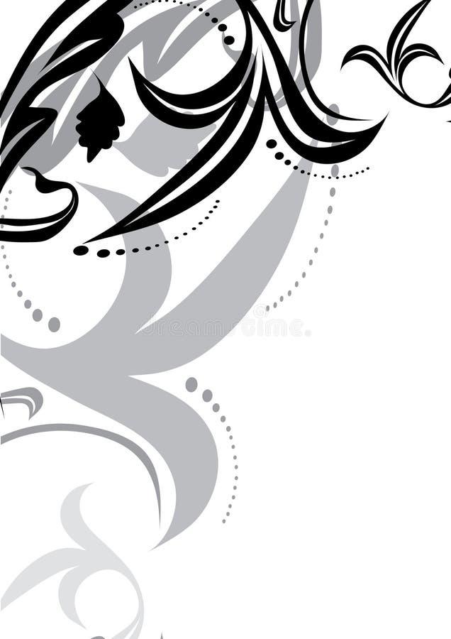 svart dekorativ white för bakgrund vektor illustrationer