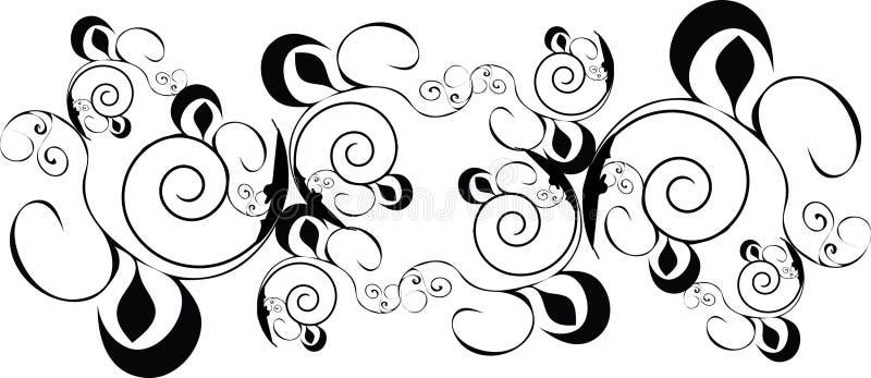 svart designprydnad vektor illustrationer