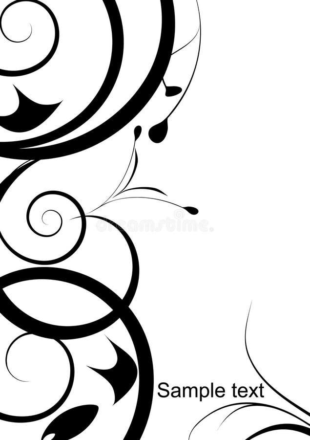 svart designprydnadwhite stock illustrationer