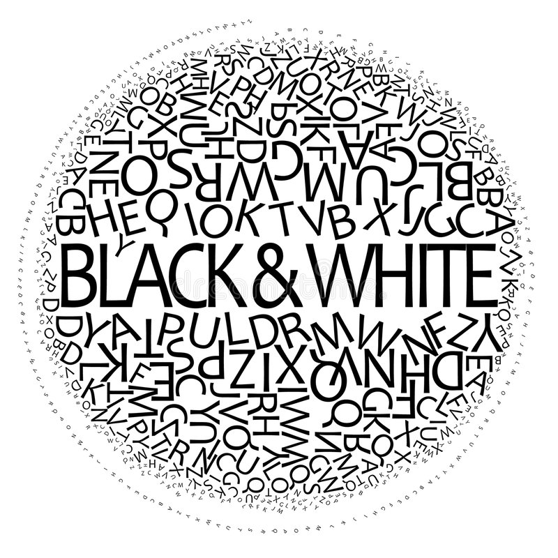 svart designwhite stock illustrationer