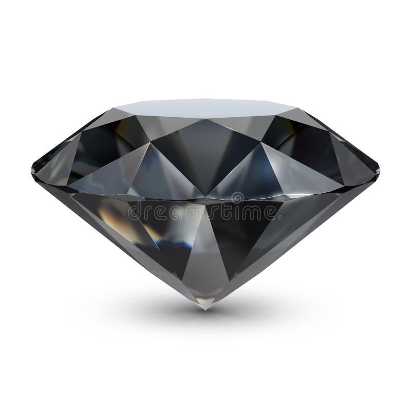 svart diamant royaltyfri illustrationer