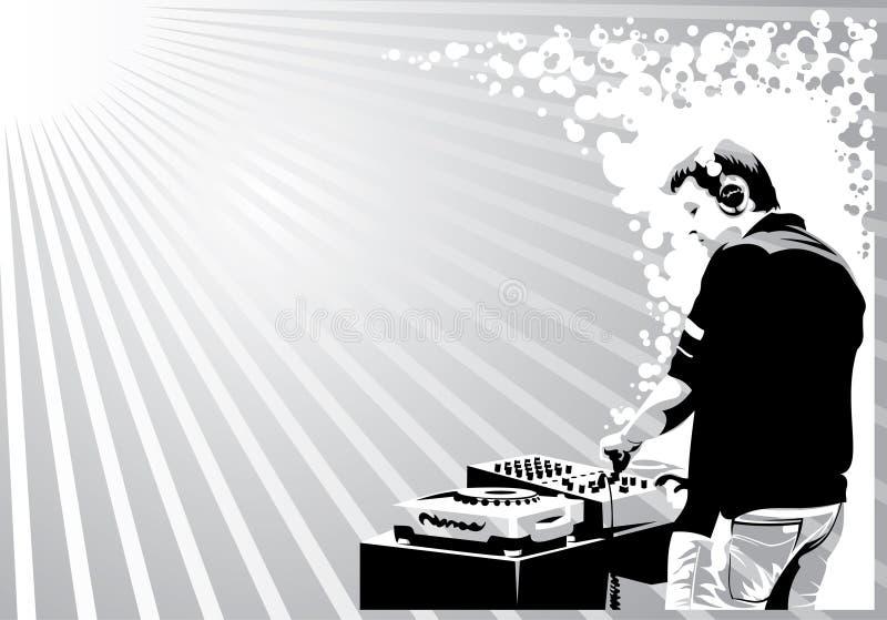 svart dj-white vektor illustrationer