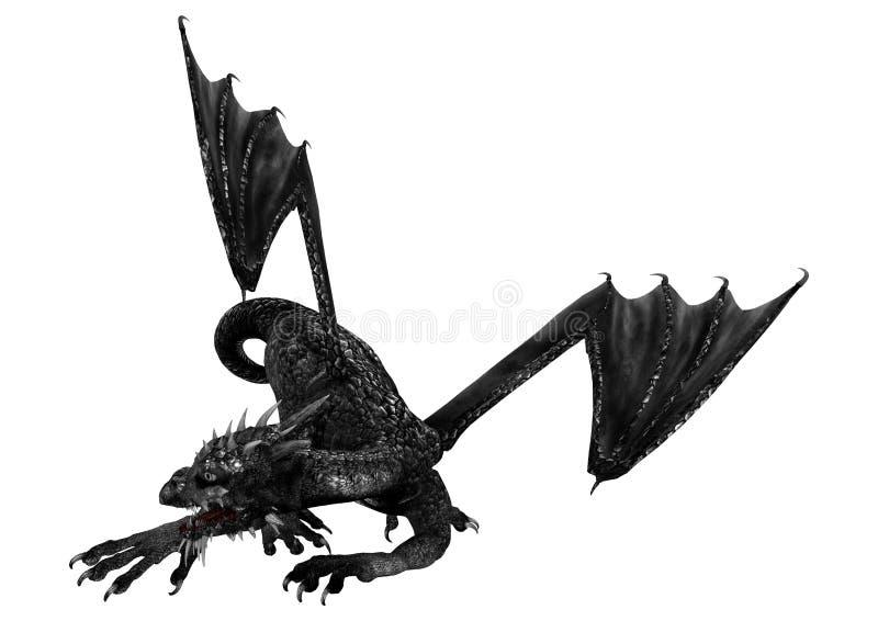 svart drake vektor illustrationer