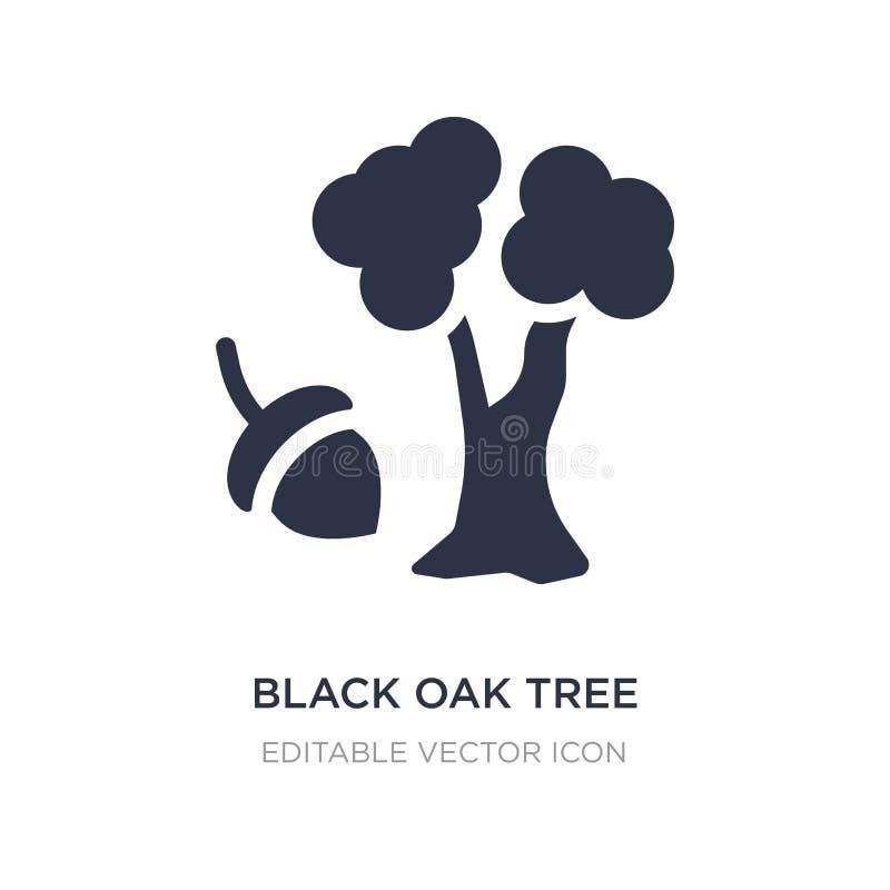 svart eksymbol på vit bakgrund Enkel beståndsdelillustration från naturbegrepp stock illustrationer
