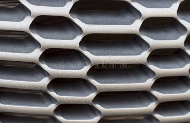 Svart elementskyddsgaller Raster av bilnärbilden, textur, bakgrund arkivfoton