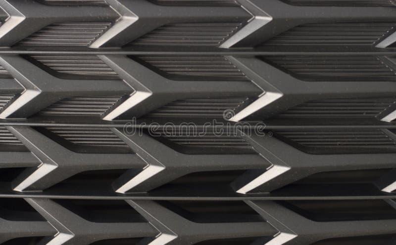Svart elementskyddsgaller Raster av bilnärbilden, textur, bakgrund royaltyfria bilder