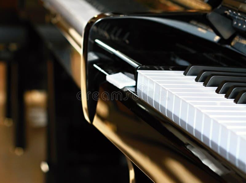 svart elfenben keys pianowhite royaltyfria bilder