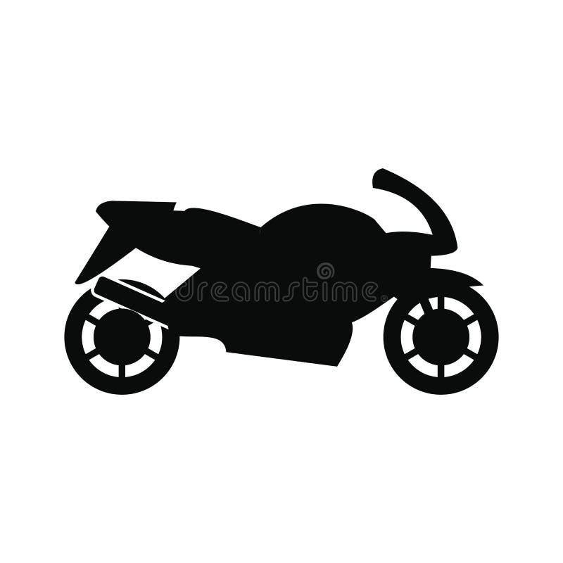 Svart enkel symbol för motorcykel vektor illustrationer