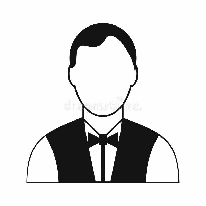 Svart enkel symbol för uppassare royaltyfri illustrationer
