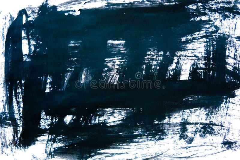 Svart färgpulverbakgrund som målas av borsten illustration abstrakta svarta borsteslaglängder på vitbok som en bakgrund grunge royaltyfria foton