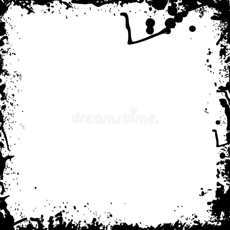 svart färgpulverfärgstänkwhite stock illustrationer