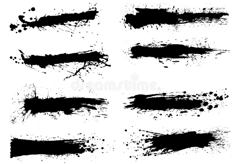 svart färgpulversplatter royaltyfri illustrationer