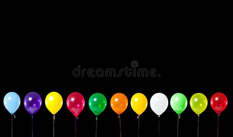 svart färgrik deltagare för ballonger royaltyfri illustrationer