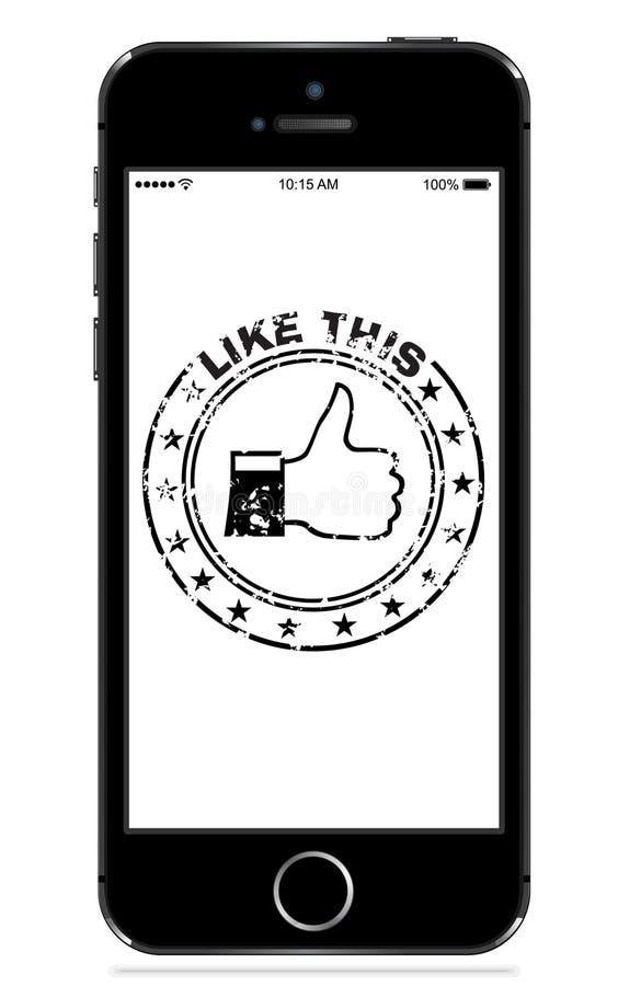Svart för Apple iphone 5s stock illustrationer