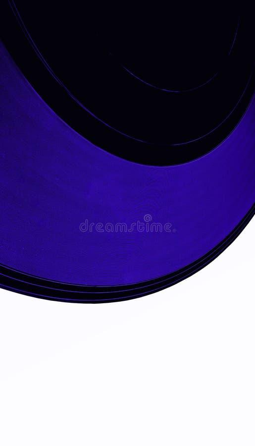 svart för etikettregister för clipping 33rpm vinyl för tappning stock illustrationer