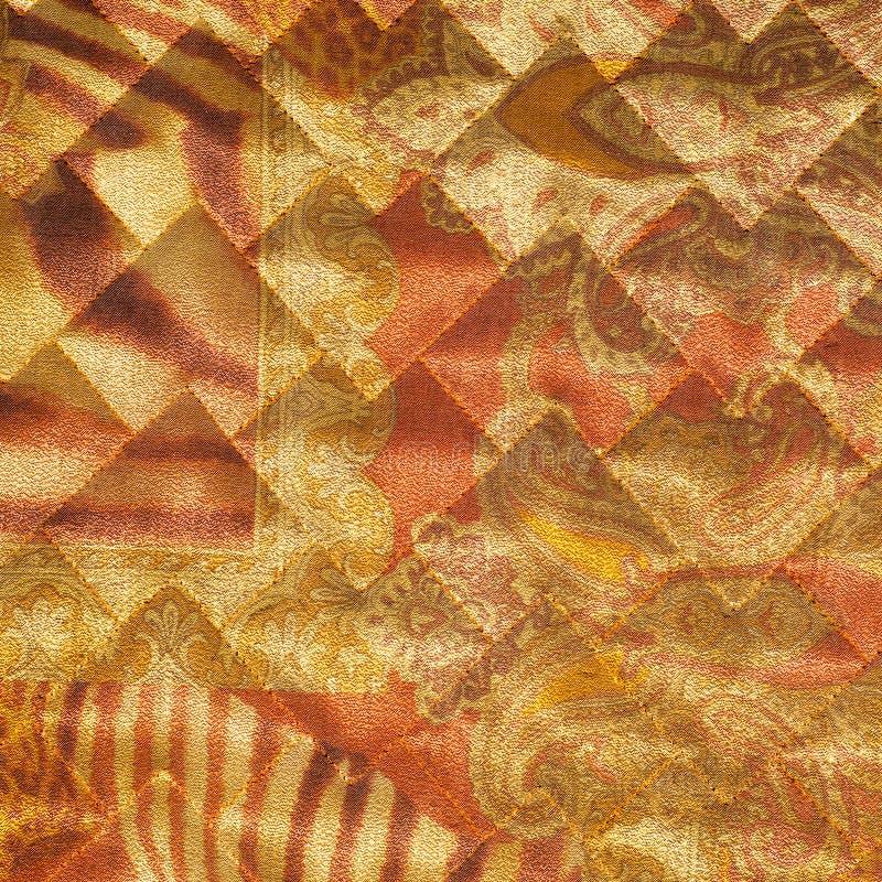 Svart för tygtextursilke abstraktion Texturen av fabrien royaltyfria bilder