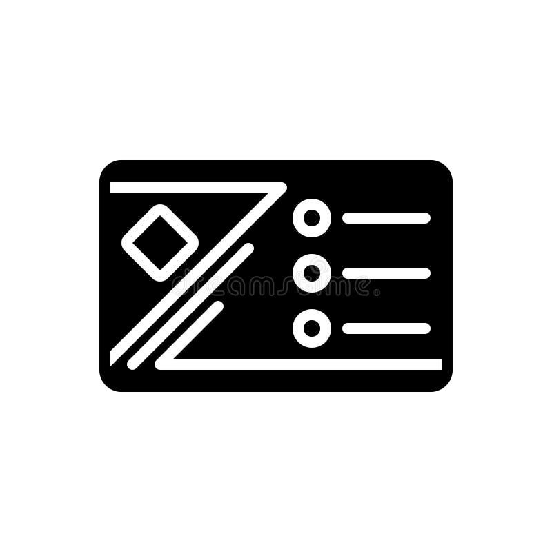Svart fast symbol för affärskort, korporation och identitet stock illustrationer