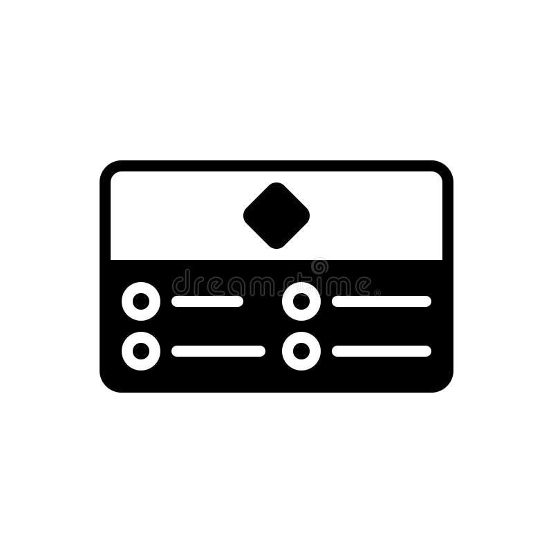 Svart fast symbol för affärskort, korporation och identitet vektor illustrationer