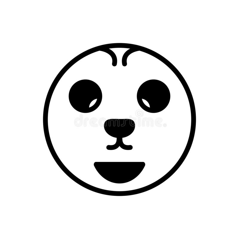 Svart fast symbol för annorlundt, udda och konstigt stock illustrationer