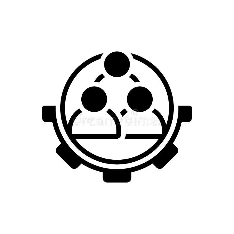 Svart fast symbol för arbetskraft, företags och anställd royaltyfri illustrationer